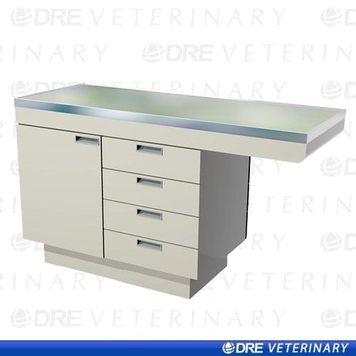 "Millwork Cabinet Style Examination Table with Knee Space - 44"" with Laminated Top"